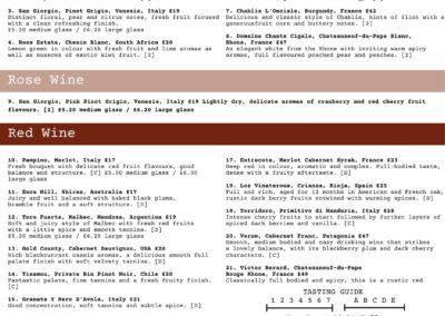 1176 Wine List